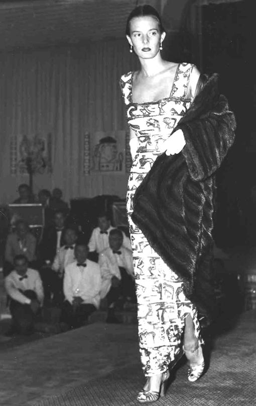 Germana Marucelli, Evening gown, Linea Impero, pattern designed with Pietro Zuffi, 1950 © Interfoto | Archivio Germana Marucelli