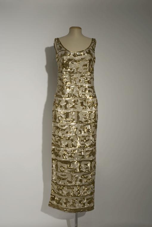 Germana Marucelli, Evening gown, Linea Impero, pattern designed with Pietro Zuffi, 1950. Photo by Marcello Gobbi | Archivio Germana Marucellii