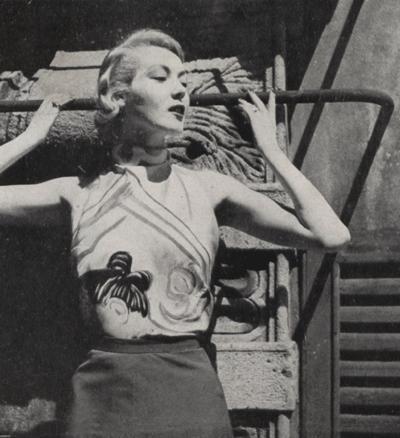 "Germana Marucelli, Daywear dress, ""foulard shirt"" designed by Massimo Campigli, 1951 | Archivio Germana Marucelli"