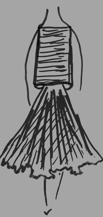 Germana Marucelli, Linea Optical sketch, 1964 | Archivio Germana Marucelli