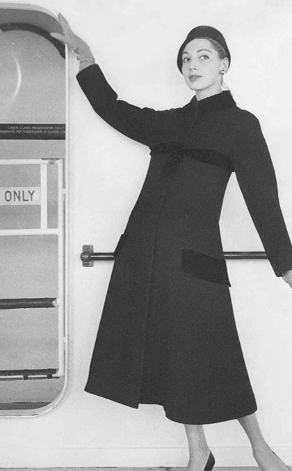 Germana Marucelli, Topcoat, Linea Impero, Fall/Winter 1951/52 © Interfoto | Archivio Germana Marucelli