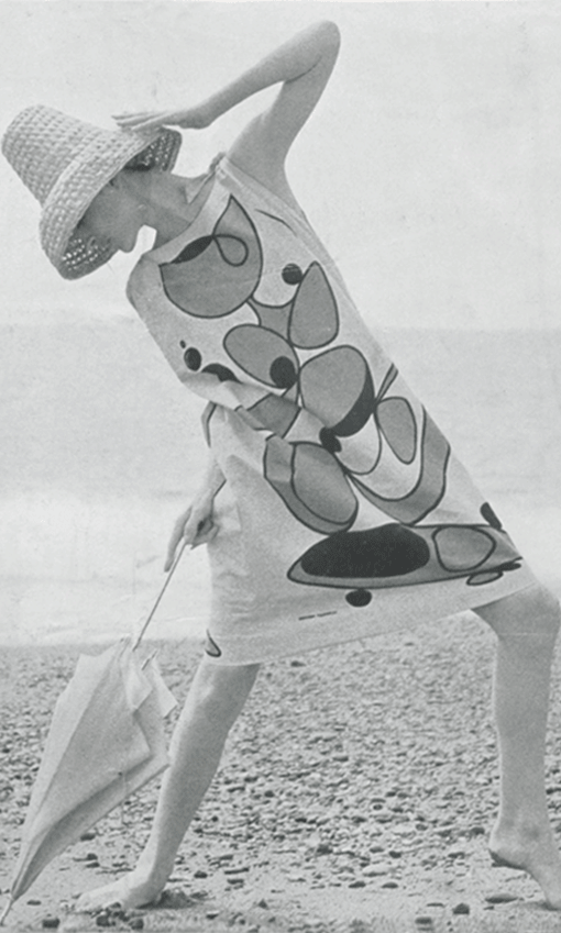 Germana Marucelli, Beach blouse, Spring/Summer 1963. Printed decorative patterns designed by Paolo Scheggi | Archivio Germana Marucelli