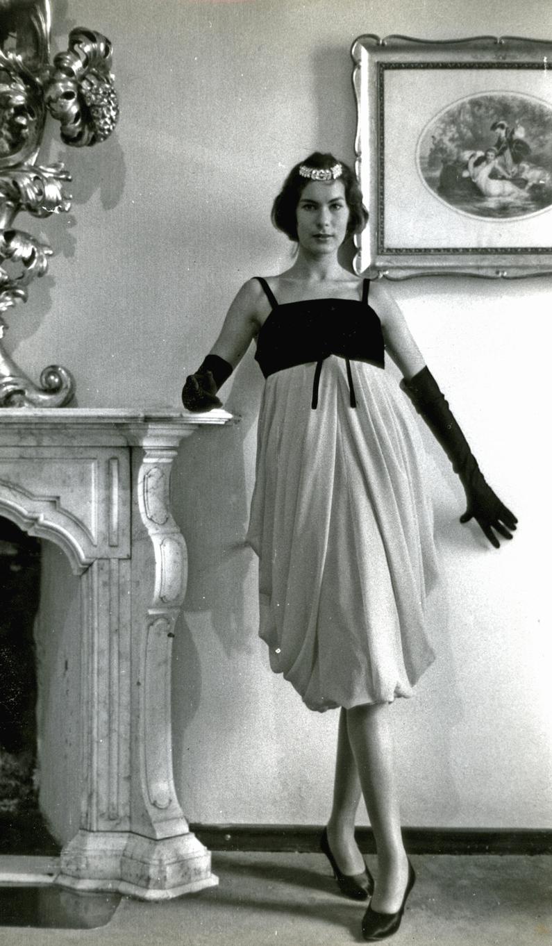 Germana Marucelli, abito da Sera linea Crisalide, autunno/inverno 1956/57 | Archivio Germana Marucelli