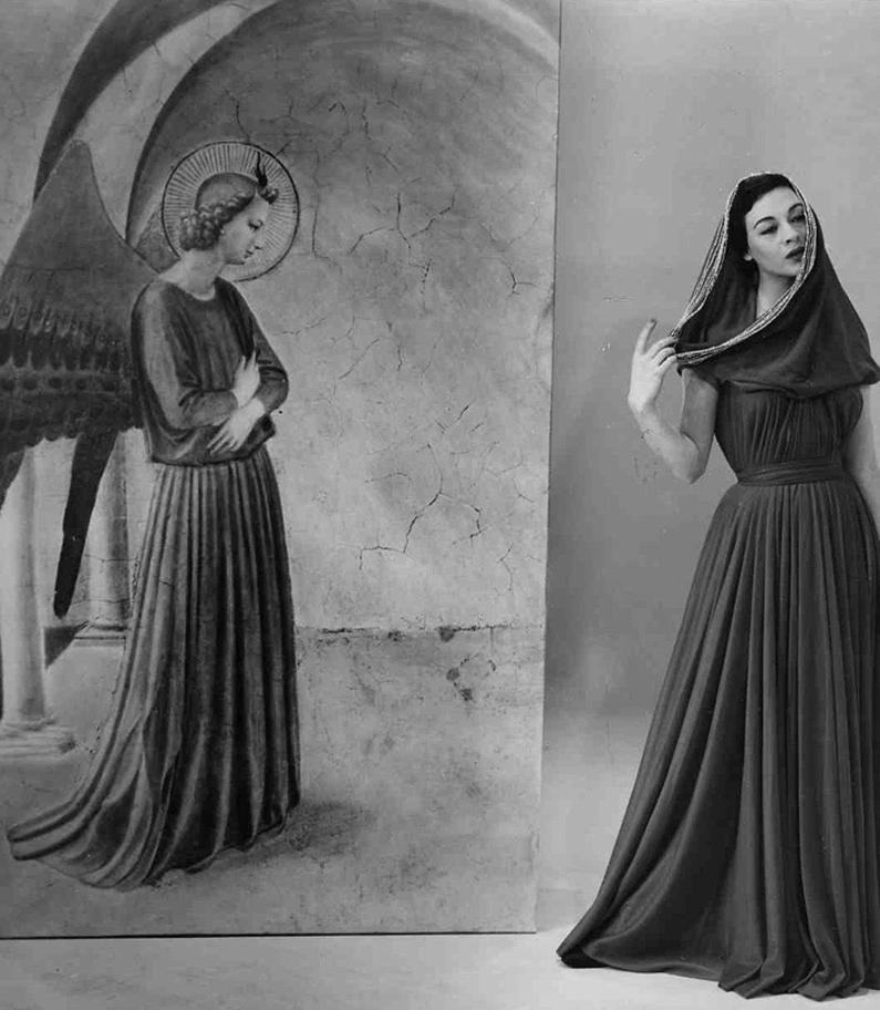 Germana Marucelli, abito da Sera linea Fraticello, autunno/inverno 1954/55. Indossato dalla modella Ivy Nicholson. © Interfoto | Archivio Germana Marucelli