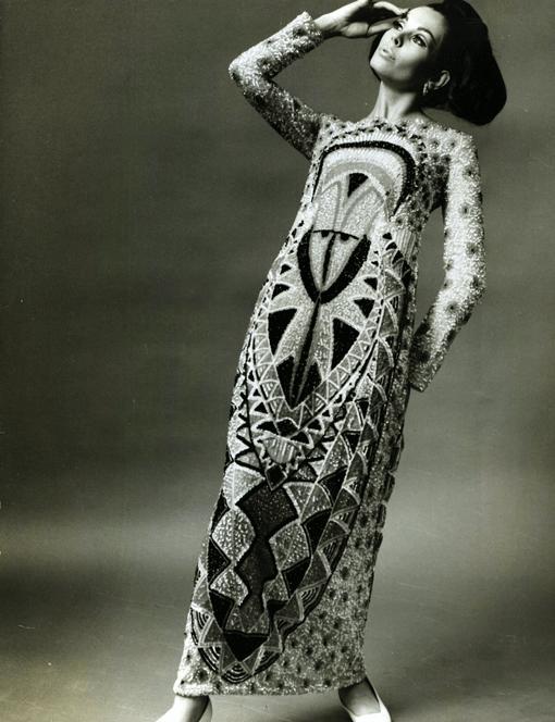 Germana Marucelli, abito da Sera linea Totem, autunno/inverno 1967/68 | Archivio Germana Marucelli