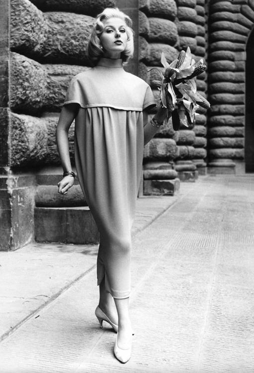 Germana Marucelli, abito da Giorno linea Pannocchia, primavera/estate 1957 © J. Dworkine | Archivio Germana Marucelli