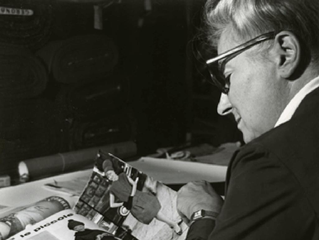 Germana Marucelli nell'atelier di corso Venezia, Milano | Archivio Germana Marucelli