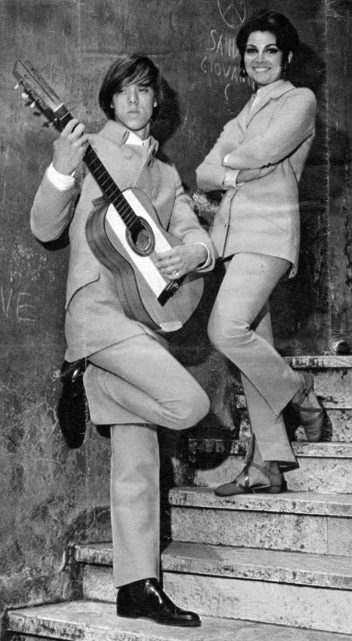 Germana Marucelli, linea Unisex, autunno/inverno 1966/67. Indossato dall'attrice Rosanna Schiaffino| Archivio Germana Marucelli
