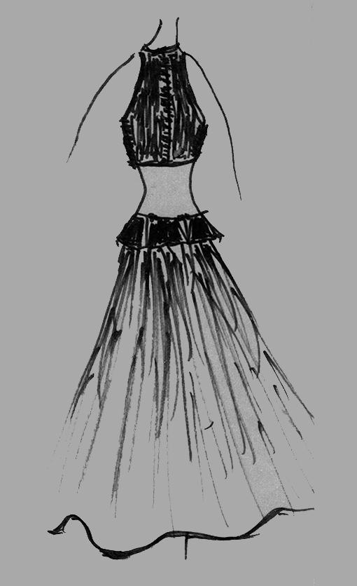 Germana Marucelli, bozzetto linea Alluminio, 1968 | Archivio Germana Marucelli